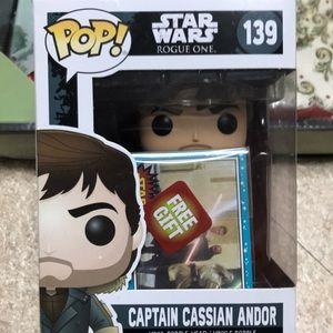 Funko POP Captain Cassian Andor from Star Wars.